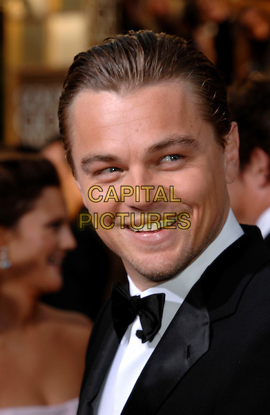 LEONARDO DiCAPRIO.Red Carpet Arrivals - 64th Annual Golden Globe Awards, Beverly Hills HIlton, Beverly Hills, California, USA. .January 15th 2007.globes headshot portrait bow tie Di Caprio.CAP/PL.©Phil Loftus/Capital Pictures