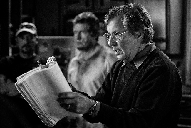 Director William Friedkin with Actor Thomas Haden Church on the set of the feature film 'Killer Joe' in New Orleans, LA.