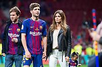 FC Barcelona Sergi Roberto and his girlfriend Coral Simanovich during King's Cup Finals match between Sevilla FC and FC Barcelona at Wanda Metropolitano in Madrid, Spain. April 21, 2018. (ALTERPHOTOS/Borja B.Hojas)