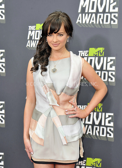 WWW.ACEPIXS.COM....April 14, 2013, Los Angeles, Ca.......Ashley Rickards arriving at the 2013 MTV Movie Awards at Sony Pictures Studios on April 14, 2013 in Culver City, California.......By Line: Peter West/ACE Pictures....ACE Pictures, Inc..Tel: 646 769 0430..Email: info@acepixs.com