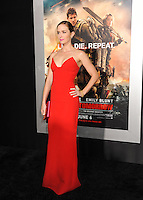 "NEW YORK CITY, NY, USA - MAY 28: Emily Blunt at the New York Premiere Of ""Edge Of Tomorrow"" held at AMC Loews Lincoln Square on May 28, 2014 in New York City, New York, United States. (Photo by Celebrity Monitor)"