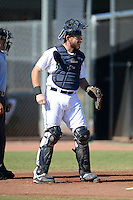 Seattle Mariners catcher Adam Martin (59) during an Instructional League game against the Milwaukee Brewers on October 4, 2014 at Peoria Stadium Training Complex in Peoria, Arizona.  (Mike Janes/Four Seam Images)