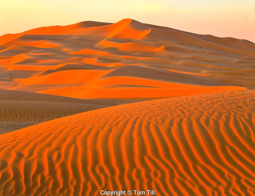 Dunes in the Empty Quarter, 1,000 mile area of dunes and desert, not crossed until 20th century, Arabian Peninsula, Sultanate of Oman