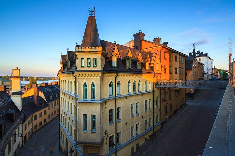 Kilformat kvarter vid Bastugatan och Bellmansgatan Mariaberget Södermalm Stockholm