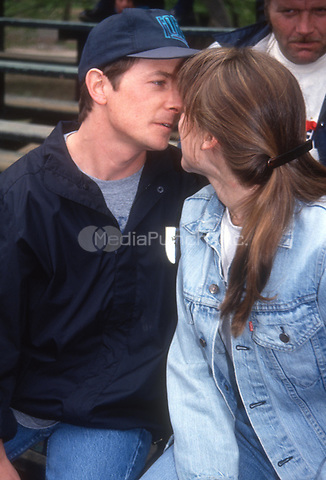 Michael J. Fox wife Tracy Pollan 1992<br /> Photo By John Barrett/PHOTOlink.net / MediaPunch