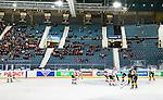 Stockholm 2014-10-14 Ishockey Hockeyallsvenskan AIK - Malm&ouml; Redhawks :  <br /> Vy &ouml;ver Hovet med publik och tomma stolar under matchen mellan AIK och Malm&ouml; Redhawks <br /> (Foto: Kenta J&ouml;nsson) Nyckelord:  AIK Gnaget Hockeyallsvenskan Allsvenskan Hovet Johanneshov Isstadion Malm&ouml; Redhawks supporter fans publik supporters inomhus interi&ouml;r interior