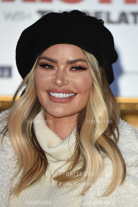 LONDON, UK. November 21, 2018: Chloe Sims at the &quot;Surviving Christmas with the Relatives&quot; premiere at the Vue Leicester Square, London.<br /> Picture: Steve Vas/Featureflash