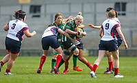 Saturday 20th April 2019 | 2019 Ulster Women's Junior Cup Final<br /> <br /> Megan Deery during the Ulster Women's Junior Cup final between Malone and City Of Derry at Kingspan Stadium, Ravenhill Park, Belfast. Northern Ireland. Photo John Dickson/Dicksondigital