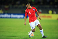 PEREIRA, COLOMBIA - JANUARY 18: Chile's Nicolas Guerra controls the ball during their CONMEBOL Preolimpico soccer game against Ecuador at the Hernan Ramirez Villegas Stadium on January 18, 2020 in Pereira, Colombia. (Photo by Daniel Munoz/VIEW press/Getty Images)