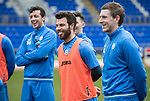 St Johnstone Training&hellip;.17.03.17<br />Richie Foster having fun during training this morning at McDiarmid Park ahead of tomorrow&rsquo;s trip to Motherwell.<br />Picture by Graeme Hart.<br />Copyright Perthshire Picture Agency<br />Tel: 01738 623350  Mobile: 07990 594431