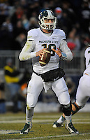29 November 2014:  Michigan State QB Connor Cook (18). The Michigan State Spartans defeated the Penn State Nittany Lions 34-10 at Beaver Stadium in State College, PA.