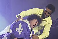 Robert Charlebois and Luck Mervil perform at the Saint-Jean-Baptiste show on the Plains of Abraham Thursday June 23, 2005.
