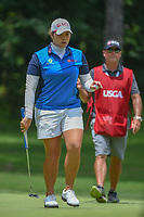 Ariya Jutanugarn (THA) after sinking her putt on 10 during round 2 of the U.S. Women's Open Championship, Shoal Creek Country Club, at Birmingham, Alabama, USA. 6/1/2018.<br /> Picture: Golffile | Ken Murray<br /> <br /> All photo usage must carry mandatory copyright credit (&copy; Golffile | Ken Murray)