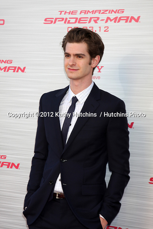 """LOS ANGELES - JUN 28:  Andrew Garfield arrives at the """"The Amazing Spider-Man"""" Premiere at Village Theater on June 28, 2012 in Westwood, CA"""