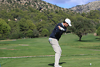 Cormack Sharvin (NIR) on the 10th tee during the Pro-Am of the Challenge Tour Grand Final 2019 at Club de Golf Alcanada, Port d'Alcúdia, Mallorca, Spain on Wednesday 6th November 2019.<br /> Picture:  Thos Caffrey / Golffile<br /> <br /> All photo usage must carry mandatory copyright credit (© Golffile | Thos Caffrey)