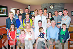 New Life.--------.Kieran&Zelda Boyle,Ballymac,Tralee(Seated centre)Christened their new baby Flyn at Clogher church last Saturday afternoon by Fr Kieran O'Brien and after to a family celebration in O'Riada's bar/restaurant which included thier other 2 kids Fallyn and Kyran..