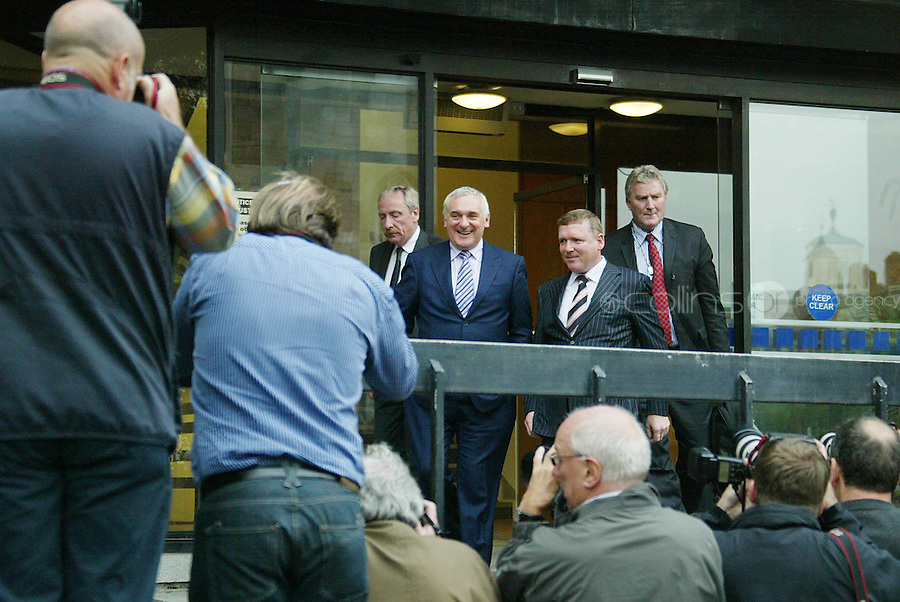 13/09/07.Bertie Ahern leaves the Mahon Tribunal today..Photo Garrett White / Collins