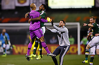 Columbus, Ohio. - Sunday, December 6, 2015: The Portland Timbers defeated Columbus Crew SC in the 2015 MLS (Major League Soccer) Cup Championship 2-1 at Mapfre stadium.