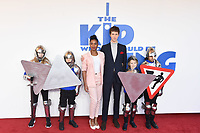 "Rhianna Dorris and Angus Imrie<br /> arriving for the premiere of ""The Kiid who would be King"" at the Odeon Luxe cinema, Leicester Square, London<br /> <br /> ©Ash Knotek  D3476  03/02/2019"