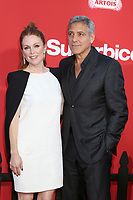 "LOS ANGELES - OCT 22:  Julianne Moore, George Clooney at the ""Suburbicon"" Premiere at the Village Theater on October 22, 2017 in Westwood, CA"