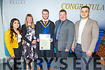 Michael O'Brien from Fenit graduating with a Bachelor of Science (Honours) in Health and Leisure Studies from I T Tralee on Friday.<br /> L to r: Sarah, Marie, John and Michael O'Brien and Daniel Popovsky.