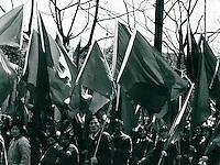 Kampf gegen den Wind von recht in Schanghai, China 1976
