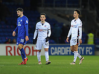 Bolton Wanderers' Zach Clough (left) and Antonee Robinson look dejected at the final whistle<br /> <br /> Photographer Kevin Barnes/CameraSport<br /> <br /> The EFL Sky Bet Championship - Cardiff City v Bolton Wanderers - Tuesday 13th February 2018 - Cardiff City Stadium - Cardiff<br /> <br /> World Copyright &copy; 2018 CameraSport. All rights reserved. 43 Linden Ave. Countesthorpe. Leicester. England. LE8 5PG - Tel: +44 (0) 116 277 4147 - admin@camerasport.com - www.camerasport.com