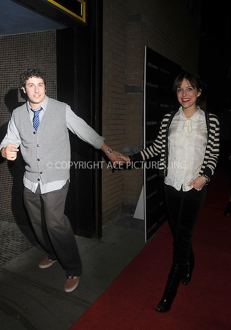 WWW.ACEPIXS.COM . . . . . ....October 13 2008, New York City....Actor Jason Biggs and Jenny Mollen arriving at a screening of 'Filth and Wisdom' hosted by The Cinema Society and Dolce and Gabbana at the IFC Center on October 13 2008 in New York City. ....Please byline: KRISTIN CALLAHAN - ACEPIXS.COM.. . . . . . ..Ace Pictures, Inc:  ..(646) 769 0430..e-mail: info@acepixs.com..web: http://www.acepixs.com