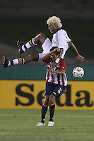 Los Angeles, CA - July 28, 2007 : Kelly Gray of the of the Los Angeles Galaxy in action against Chivas Guadalajara  on July 28, 2007 at The Los Angeles Coliseum in Los Angeles, California. Chivas defeated the Galaxy 2-1.