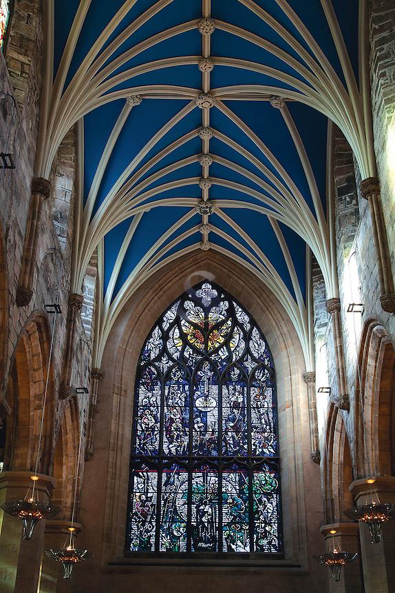 The Burns Window, St Giles Cathedral, The Royal Mile, Edinburgh, Lothian