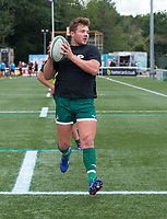 Harry Sloan of Ealing Trailfinders during the RFU Championship Cup match between Ealing Trailfinders and Ampthill RUFC at Castle Bar , West Ealing , England  on 28 September 2019. Photo by Alan  Stanford / PRiME Media Images