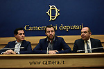Matteo Salvini in conferenza stampa