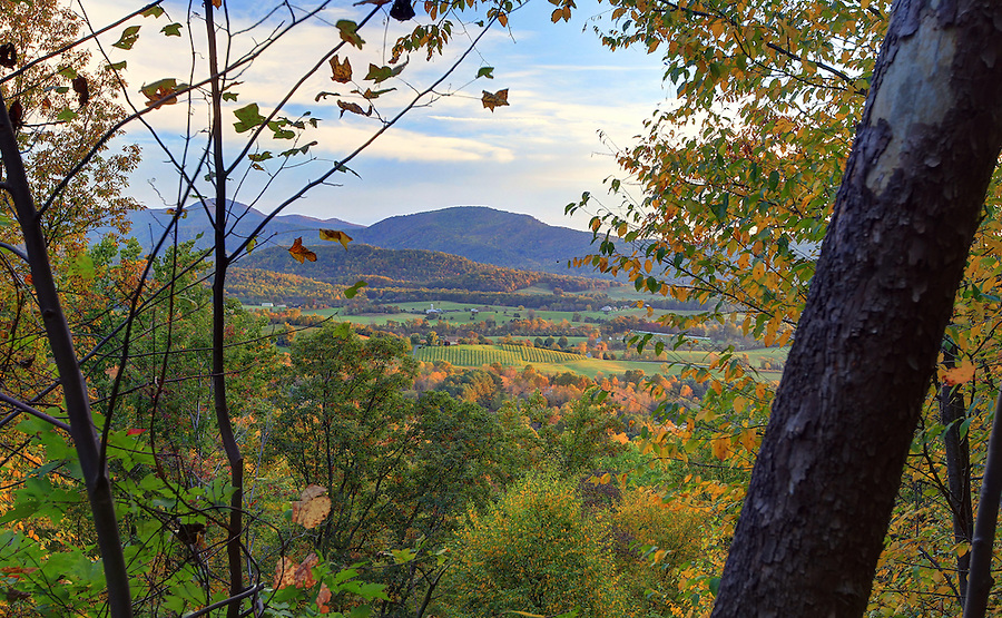 A view of the Blue Ridge Mountains from the Shenandoah National Park in Greene County, Virginia. Photo/Andrew Shurtleff