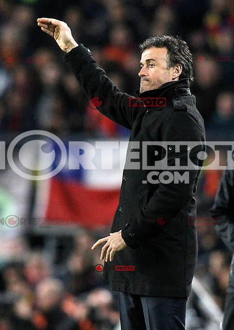 FC Barcelona's coach Luis Enrique Martinez during La Liga match.January 11,2015. (ALTERPHOTOS/Acero) /NortePhoto /NortePhoto.com