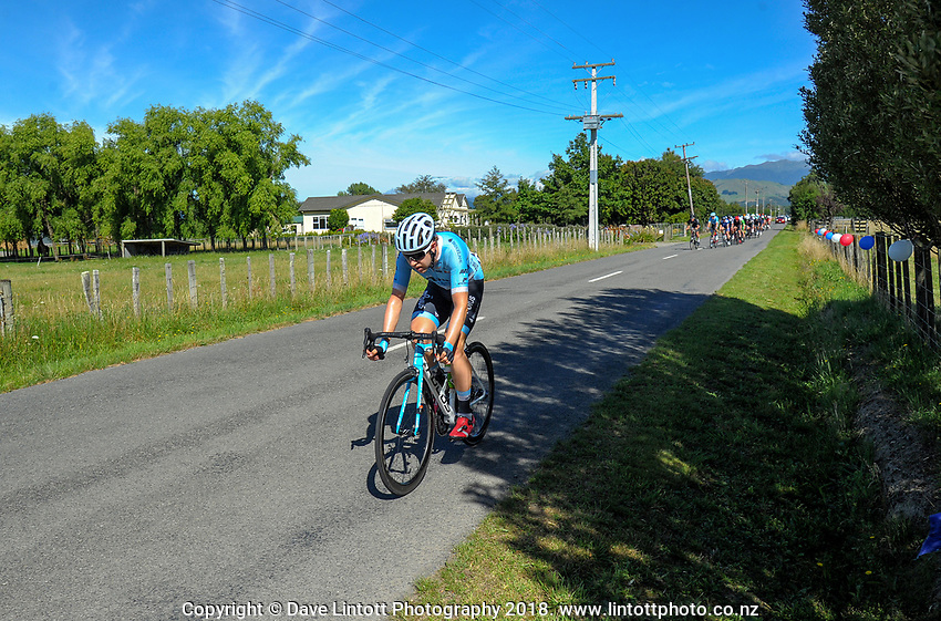Brad Evans (Mobius Bridgelane). Stage five of the 2018 NZ Cycle Classic UCI Oceania Tour (Masterton criterium) in Masterton, New Zealand on Friday, 21 January 2018. Photo: Dave Lintott / lintottphoto.co.nz