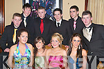 BALL: Having a great time at the Tralee Debs Ball, in the Abbey Gate Hotel, Tralee on Saturday night were front l-r: Wayne Conway, Sinead Mackessy, Niamh Carmody, Sinead Boyle, Liri Dona and Robert Birdsall. Back l-r: James O'Carroll, David Walsh, Niall O'Shea and Niall Byrne.   Copyright Kerry's Eye 2008