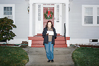Doris Hohensee, of Nashua, is a campaign volunteer for Kentucky senator and Republican presidential candidate Rand Paul. She canvassed a Nashua, New Hampshire, neighborhood after a short diner stop by the candidate earlier that morning. The canvassing efforts were mostly to determine which candidates and policies likely voters in the neighborhood were interested in.