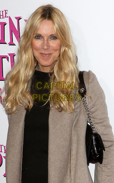 "ALANA STEWART.""The Pink Panther 2"" World Premiere held at the Ziegfeld Theater, New York, NY, USA..February 3rd, 2009.half length grey gray coat black dress bag purse .CAP/ADM/PZ.©Paul Zimmerman/AdMedia/Capital Pictures."