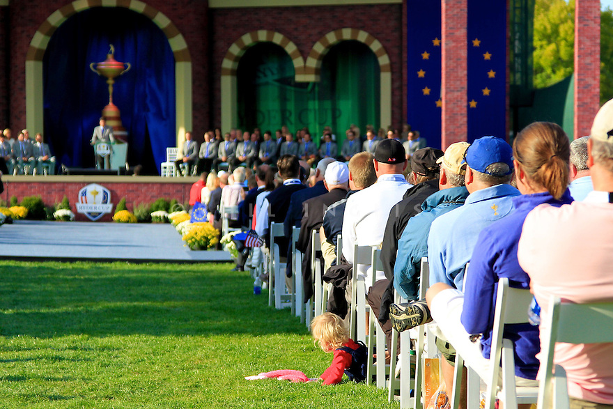 General view during the opening ceremony of the 39th Ryder Cup matches, Medinah Country Club, Chicago, Illinois, USA.  28-30 September 2012 (Picture Credit / Phil Inglis)