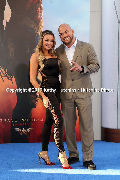 "LOS ANGELES - MAY 25:  Amber Nichole Miller, Tito Ortiz at the ""Wonder Woman"" Los Angeles Premiere at the Pantages Theater on May 25, 2017 in Los Angeles, CA"