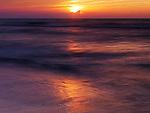 Beautiful red sunset ober lake Huron, Ontario, Canada, summertime nature scenery