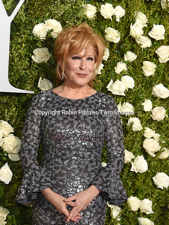 Bette Midler attend the 71st Annual  Tony Awards on June 11, 2017 at Radio City Music Hall in New York, New York, USA.<br /> <br /> photo by Robin Platzer/Twin Images<br />  <br /> phone number 212-935-0770