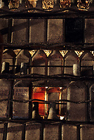 France/DOM/Martinique/Le Carbet/Plantation Lajus/Distillerie Bally: Détail vieilles armoires remplies de vieilles bouteilles de vieux Rhum de 1929
