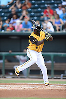 ***Temporary Unedited Reference File***Jacksonville Suns right fielder Jeremias Pineda (2) during a game against the Mississippi Braves on May 1, 2016 at The Baseball Grounds in Jacksonville, Florida.  Jacksonville defeated Mississippi 3-1.  (Mike Janes/Four Seam Images)