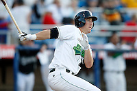 June 23, 2009:  First Baseman Richard Orton of the Jamestown Jammers at bat during a game at Russell Diethrick Park in Jamestown, NY.  The Jammers are the NY-Penn League Short-Season Class-A affiliate of the Florida Marlins.  Photo by:  Mike Janes/Four Seam Images