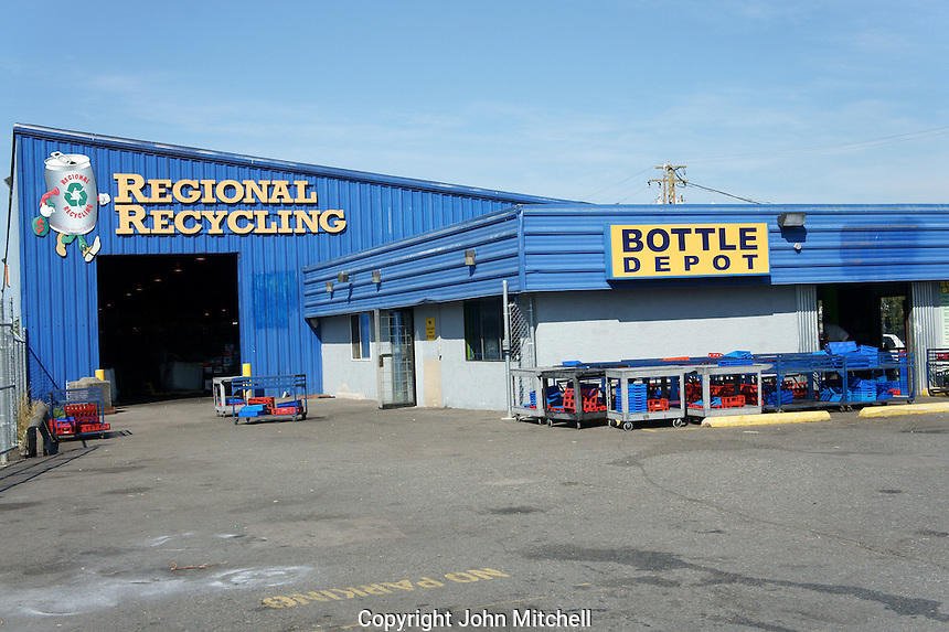 Recycling depot in Vancouver, British Columbia, Canada