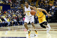 BERKELEY, CA - November 26, 2016: Cal Bears Men's Basketball team vs. the Wyoming Cowboys at Haas Pavilion. Final score, Cal Bears 71, Wyoming Cowboys 61.