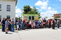 MEGAN DAVIS/MCDONALD COUNTY PRESS On Tuesday, June 18, those looking to beat the heat with a sweet treat and members of the McDonald County Chamber of Commerce gathered to celebrate as Shauna Lopez held a ribbon cutting for Honey's Snow Cones. The traveling treatery can be found on the Pineville square Monday through Friday, from about 11 a.m. until 5 p.m. with discretion for inclement weather. On the weekends, Honey's Snow Cones will visit local special events and festivals.