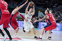 Real Madrid Fabien Causeur and Baskonia Vitoria Matt Janning and Janis Timma during Turkish Airlines Euroleague match between Real Madrid and Baskonia Vitoria at Wizink Center in Madrid, Spain. January 17, 2018. (ALTERPHOTOS/Borja B.Hojas) (NortePhoto.com NORTEPHOTOMEXICO)