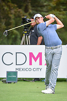 Matt Fitzpatrick (ENG) watches his tee shot on 8 during round 3 of the World Golf Championships, Mexico, Club De Golf Chapultepec, Mexico City, Mexico. 3/4/2017.<br /> Picture: Golffile | Ken Murray<br /> <br /> <br /> All photo usage must carry mandatory copyright credit (&copy; Golffile | Ken Murray)